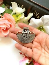 Antique Silver Tone Ethnic Vintage Look Metal Pendant, Indian Jewelry, Jewelry