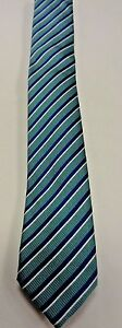 NEW WITH TAGS MENS BANANA REPUBLIC NECKTIE TIE, ONE SIZE, TURQUOISE/BLUE STRIPES