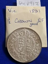 More details for 1891 victoria jh halfcrown 2/6-silver coin grade gef with uneven toning hc891j