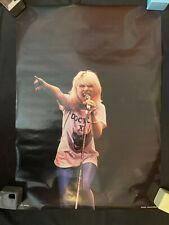 Blondie Doctor X rolled poster Debbie Deborah Harry concert Holland Ro 002