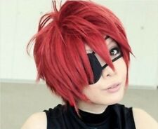 For Cosplay New Gray-Man Lavi Short Red Cosplay Convention Cos Party wig+Cap