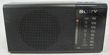 Sony FM/AM Battery Powered Portable Radio Model No. ICF-P36 Black