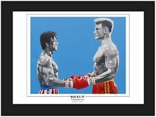 "Rocky IV ""I Must Break You"" 14"" x 11""  Mounted Art Print By Patrick J Killian"