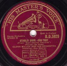 "RARE GLENN MILLER 78 "" STARLIT HOUR / A MILLION DREAMS AGO "" UK HMV BD 5929 E/E+"