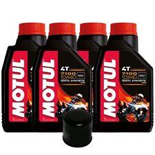 4 LT OLIO MOTUL 7100 10W40 10W 40 + FILTRO HF138 HIFLO SUZUKI GSR 600 750