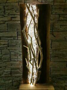 Stehleuchte Stehlampe Treibholz Schwemmholz Massiv  Design Lampe Aludraht