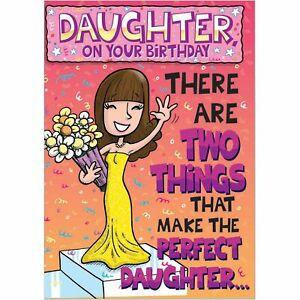 Doodlecards Funny Daughter Birthday Card - Medium