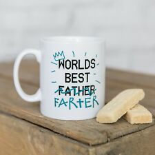 "Worlds Best ""Father"" Farter Father's Day Daddy Dad Stepdad Mug Gift Present"