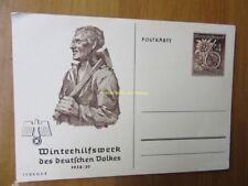 EBS Germany 1938 Postal Card Winterhilfswerk February P 274/05