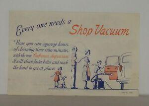Vintage Craftsman Shop Vacuum Advertisement From 1963-4