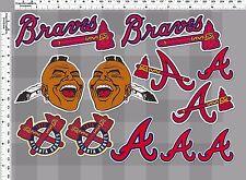 1set atlanta braves tomahawk baseball decal sticker print self die-cut vinyl