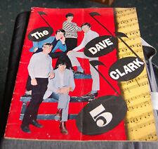 Vintage 1960s Dave Clark 5 American Tour Book Souvenir
