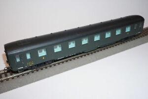 LIMA Voiture DEV AO courte verte, toit noir, 2ème classe SNCF HO 1/87