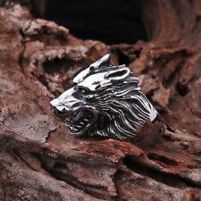 Ring Wolf Wolfskopf Schmuck Dark Silver Silber Neu