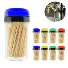 1600PCS Bamboo Wooden Toothpicks 8 Dispenser Holder Containers Party Home Crafts