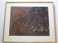 VINTAGE ABSTRACT PAINTING 1950'S TO 1960'S NON OBJECTIVE EXPRESSIONISM MODERNISM