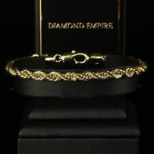 Armband Kordelarmband Echt 750er Gold 18 Karat vergoldet Damen Herren B1805