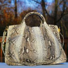Genuine Python Snake Skin Hobo Handbag in Natural - LAVANTA STABLES