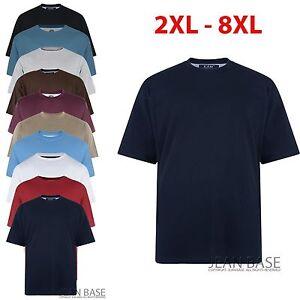 Big Mens KAM Plain Basic Long Tall T Shirt King 2-8XL Sizes Top Nightshirt K500