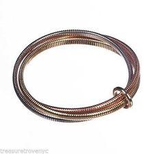 Treasure Trove NYC Three Tone Snake Coil Bracelet Set
