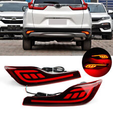LED Rear Bumper Reflector Driving Brake Light Lamp For Honda CRV CR-V 2016-2017