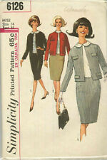 Vintage Suit & Overblouse Sewing Pattern S6126 Size 14