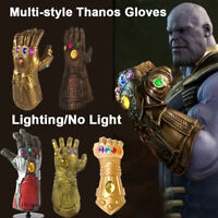 Adult Children Cosplay Avengers Thanos Infinity Gauntlet LED Light Gloves Props