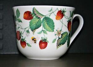 Roy Kirkham Large Breakfast Cup 'Strawberry'  Fine Bone China NEW