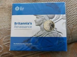 2015 £2 Two Pound Coin Britannias Renaissance Folder Pack BUNC Royal Mint New UK