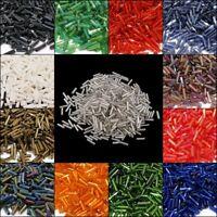300g Stiftperlen 6 x 2 mm Rocailles Röhre 15 farben mix set Glasperlen AM61