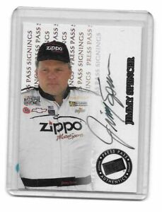 1999 Press Pass Signings Jimmy Spencer 392/500 AUTHENTIC AUTOGRAPH 22 YEARS OLD
