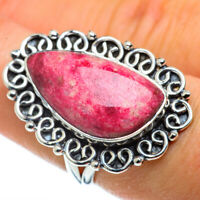 Thulite 925 Sterling Silver Ring Size 7.5 Ana Co Jewelry R43703F