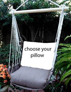 MAGNOLIA CASUAL HAMMOCK SWING SET - CHOCOLATE Choose Your Pillow