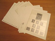 Lindner T falzlos formulario fogli DDR 1983 pagine numero 137-145 (781)
