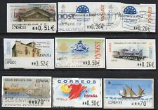 SPAIN - Selection of Fine Used ATM Label stamps. Thematic interest. (f)