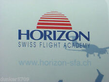 HORIZON SWISS FLIGHT ACADEMY PLAYING CARDS IN A CLEAR PLASTIC STORAGE BOX