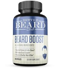 Better Beard Club Beard Boost Growth Supplement 60 Capsule Bottle
