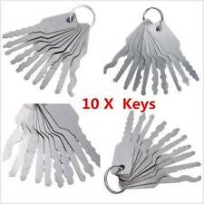 10Pcs Emergency Car Opening Kit Access Door Easy Unlock Keys Tool Auto Locks Set