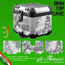 Set Completo 3 Adesivi Stickers TOP CASE BMW  bauletto bags R 1200 gs Dakar Grey