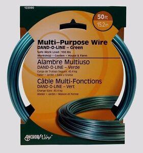 50 ft HILLMAN Coated Steel Wire Multi Purpose Galvanized DAND O LINE Clothesline
