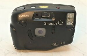 CANON SNAPPY Q - RARE Vintage Quirky 35mm Film Camera Point & Shoot  KIT  c.1989