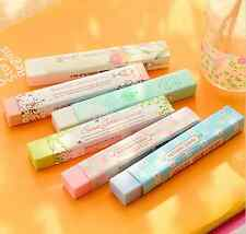 2x Long Strip Rubber Eraser School Supplies Stationery Erasers for Kids Gift Hot