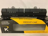 ✅CUSTOM PAINTED K-LINE BY LIONEL OHIO CENTRAL COIL CAR! O SCALE STEEL MILL TRAIN