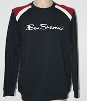 Mens Ben Sherman Sweatshirt New With Tags Spell Out Navy Red White Mod L/S L