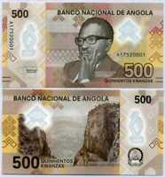 Angola 500 Kwanzas 2020 P NEW Polymer UNC
