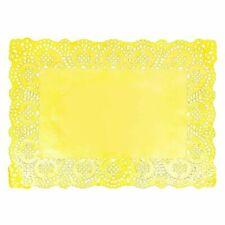 "100-12/"" GOLD METALLIC Paper Lace DOILIESFREE ShipGold Doily Chargers"