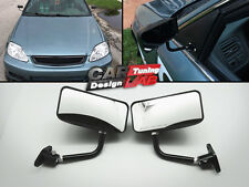 Custom GP Black Race Small Mirrors Auto/Bike F1 Type Kit Side Wing Pair RH+LH