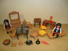 PLAYMOBIL WESTERN FURNITURE with Cowboys+Accessories