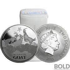 2015 Silver 1 oz New Zealand Lunar Goat (20 Coins)