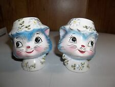 "ADORABLE 1950'S ""MISS PRISS"" CERAMIC KITTY SALT & PEPPER SHAKERS NO.1511 LEFTON"